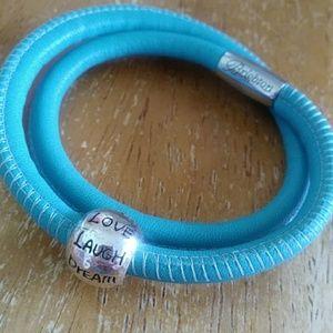 Brighton double Woodstock bracelet with charm